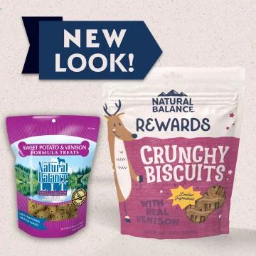Natural Balance Limited Ingredient Treats Sweet Potato & Venison Formula Treats - Regular Size