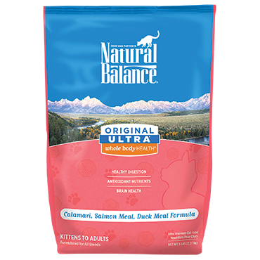 Natural Balance Original Ultra Calamari, Salmon Meal, Duck Meal Formula
