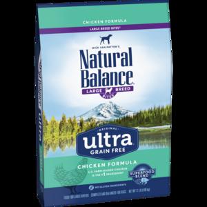 Natural Balance Original Ultra Ultra Premium Formula - Large Breed Bites - Chicken, Brown Rice, Duck Meal Formula