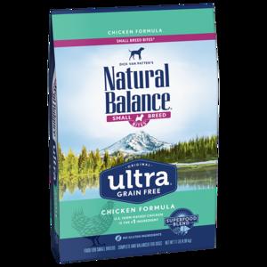 Natural Balance Original Ultra Ultra Premium Formula - Small Breed Bites - Chicken, Chicken Meal, Duck Meal Formula