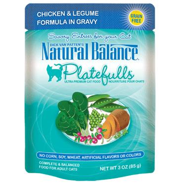 Natural Balance Platefulls Chicken & Legume Formula In Gravy