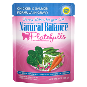 Natural Balance Platefulls Chicken & Salmon Formula In Gravy