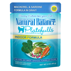 Natural Balance Platefulls Indoor Formula - Mackerel & Sardine Formula In Gravy