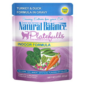 Natural Balance Platefulls Indoor Formula - Turkey & Duck Formula In Gravy