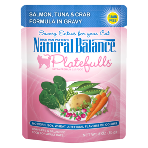 Natural Balance Platefulls Salmon, Tuna & Crab Formula In Gravy