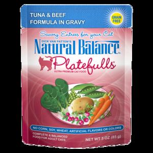Natural Balance Platefulls Tuna & Beef Formula In Gravy