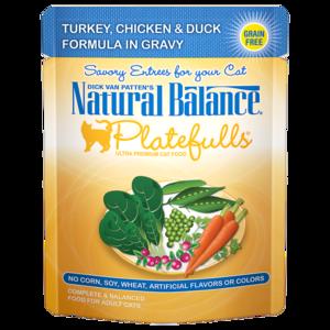 Natural Balance Platefulls Turkey, Chicken & Duck Formula In Gravy