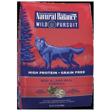 Natural Balance Wild Pursuit Beef & Lamb Meal Formula