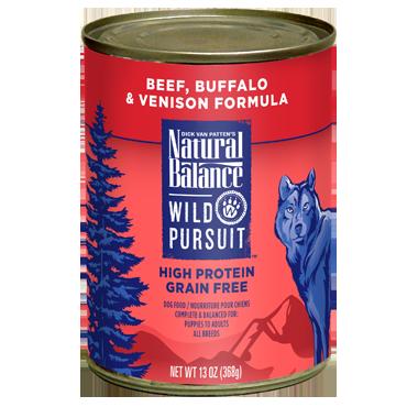 Natural Balance Wild Pursuit Beef, Buffalo & Venison Formula