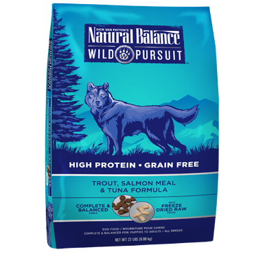 Natural Balance Wild Pursuit Trout, Salmon Meal & Tuna Formula
