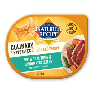 Nature's Recipe Culinary Favorites Grilled Recipe With Real Tuna & Garden Vegetables
