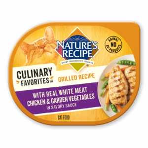 Nature's Recipe Culinary Favorites Grilled Recipe With Real White Meat Chicken & Garden Vegetables