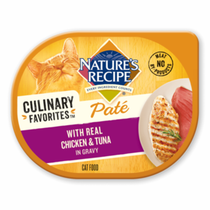 Nature's Recipe Culinary Favorites Pate With Real Chicken & Tuna In Gravy