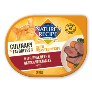 Nature's Recipe Culinary Favorites Slow Roasted Recipe With Real Beef & Garden Vegetables Pate