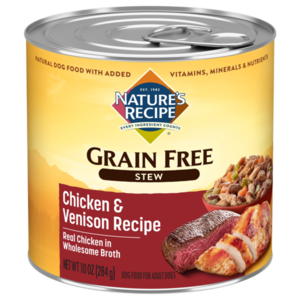 Nature's Recipe Grain Free Chicken & Venison Stew With Sweet Potato & Green Beans
