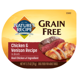 Nature's Recipe Grain Free Easy To Digest Chicken & Venison Recipe In Broth