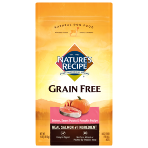 Nature's Recipe Grain Free Easy To Digest Salmon, Sweet Potato & Pumpkin Recipe