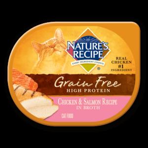 Nature's Recipe Grain Free High Protein Chicken & Salmon Recipe In Broth