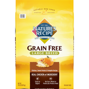 Nature's Recipe Large Breed Grain Free Easy To Digest Chicken, Sweet Potato & Pumpkin Recipe
