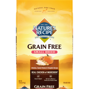 Nature's Recipe Small Breed Grain Free Easy To Digest Chicken, Sweet Potato & Pumpkin Recipe