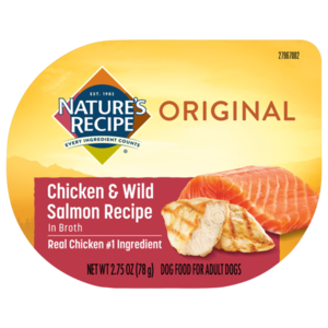 Nature's Recipe Wet Dog Food Chicken & Wild Salmon Recipe In Broth