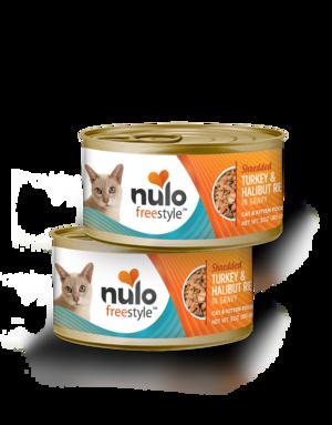 Nulo FreeStyle Shredded Turkey & Halibut Recipe In Gravy
