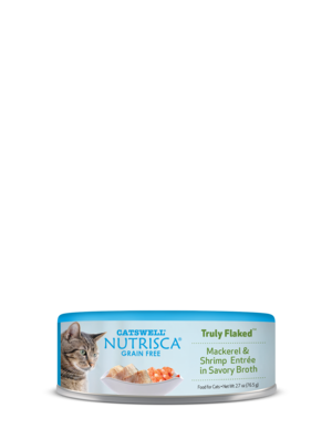 Nutrisca Grain Free Truly Flaked Mackerel & Shrimp Entree In Savory Broth