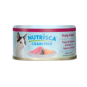 Nutrisca Grain Free Truly Flaked Tuna & Salmon Entree In Savory Broth