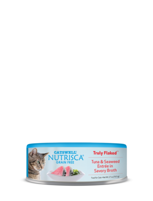 Nutrisca Grain Free Truly Flaked Tuna & Seaweed Entree In Savory Broth