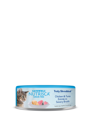Nutrisca Grain Free Truly Shredded Chicken & Tuna Entree In Savory Broth