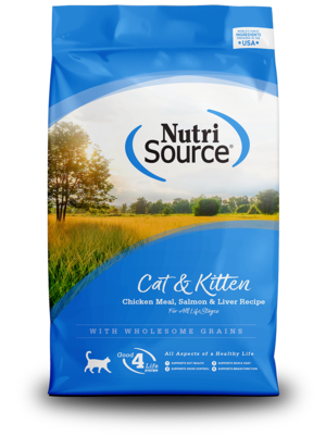 NutriSource Dry Cat Food Cat & Kitten - Chicken Meal, Salmon & Liver Formula