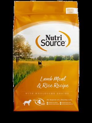NutriSource Dry Dog Food Lamb Meal & Rice Formula