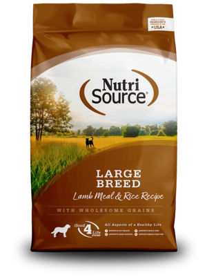 NutriSource Dry Dog Food Large Breed Adult - Lamb Meal & Rice Formula