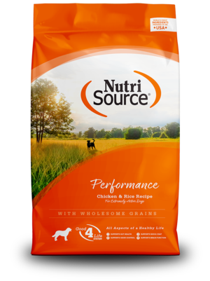 NutriSource Dry Dog Food Performance - Chicken & Rice Formula