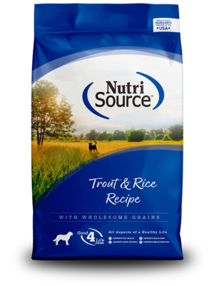 NutriSource Dry Dog Food Trout & Rice Formula