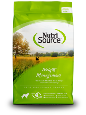 NutriSource Dry Dog Food Weight Management - Chicken & Chicken Meal Formula