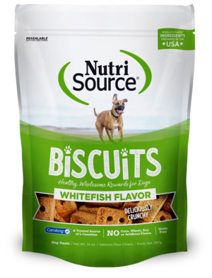 NutriSource Grain Free Biscuits Whitefish