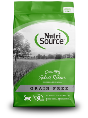NutriSource Grain Free Cat Food Country Select Entree - Chicken & Duck Meal Protein