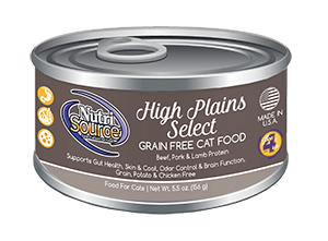 NutriSource Grain Free Cat Food High Plains Select