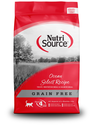 NutriSource Grain Free Cat Food Ocean Select Entree - Trout, Whitefish Meal & Salmon Meal Protein