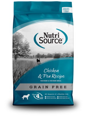 NutriSource Grain Free Dog Food Chicken & Pea Formula
