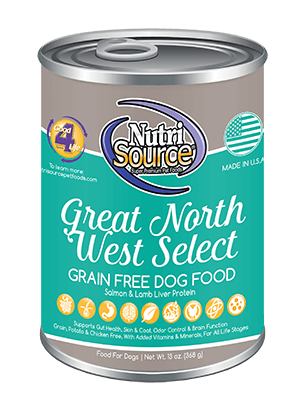 NutriSource Grain Free Dog Food Great North West Select