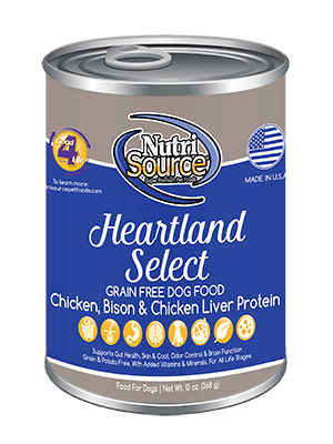 NutriSource Grain Free Dog Food Heartland Select