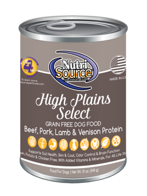 NutriSource Grain Free Dog Food High Plains Select