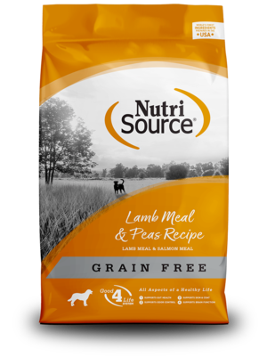 NutriSource Grain Free Dog Food Lamb Meal & Peas Formula