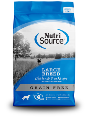 NutriSource Grain Free Dog Food Large Breed Chicken & Pea Formula