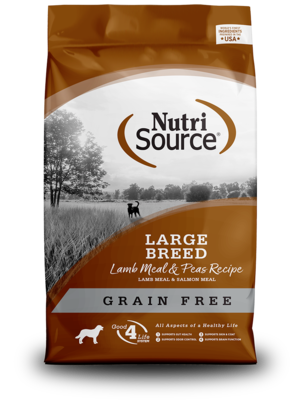NutriSource Grain Free Dog Food Large Breed Lamb Meal & Peas Formula