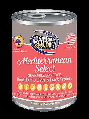 NutriSource Grain Free Dog Food Mediterranean Select