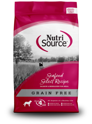 NutriSource Grain Free Dog Food Seafood Select