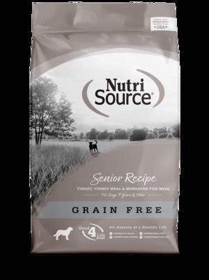 NutriSource Grain Free Dog Food Senior Formula